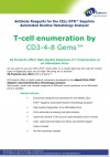 T-cell enumeration by CD3-4-8 Gems�